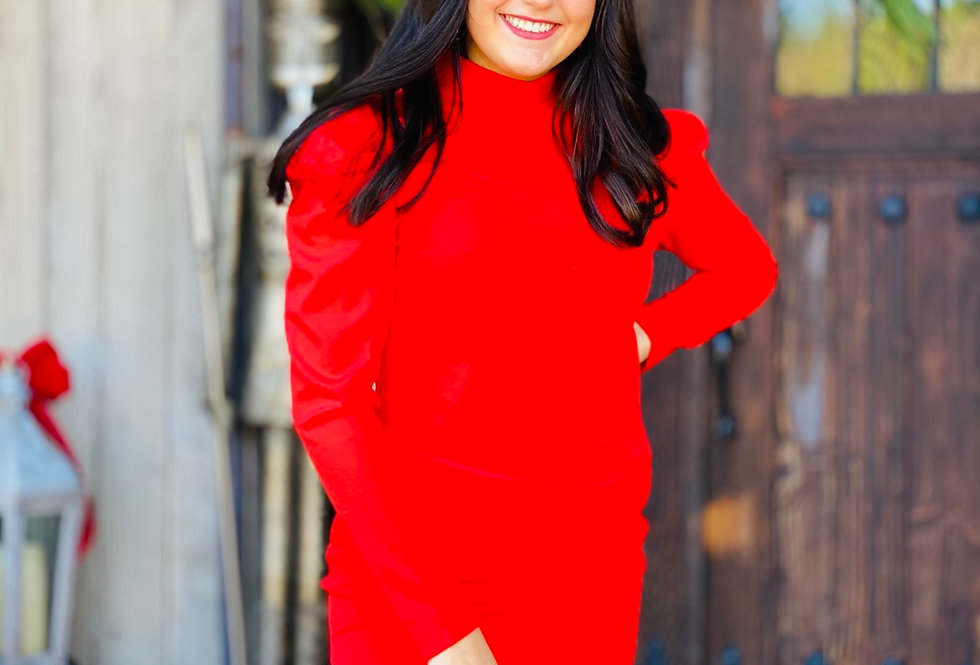 Apple Spiced Red Dress