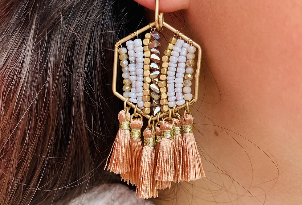 Dream On Earrings in Pink