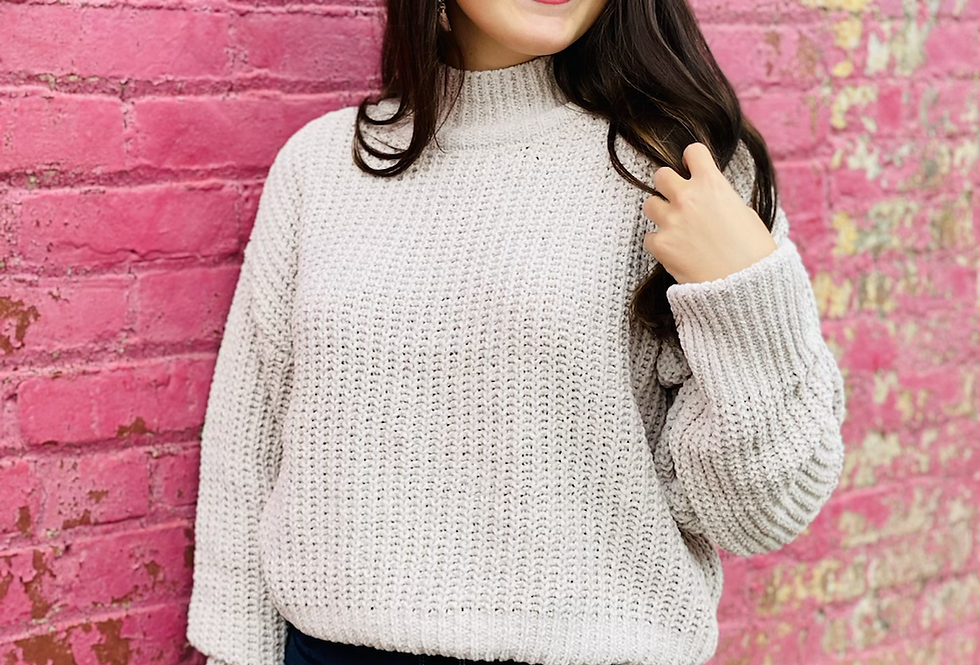 Just One Love Sweater in Tan