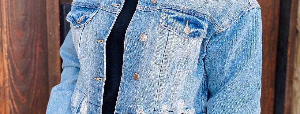 Good Day For Denim Distressed Jacket