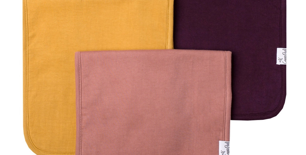 Copper Pearl 3pk Burp Cloths