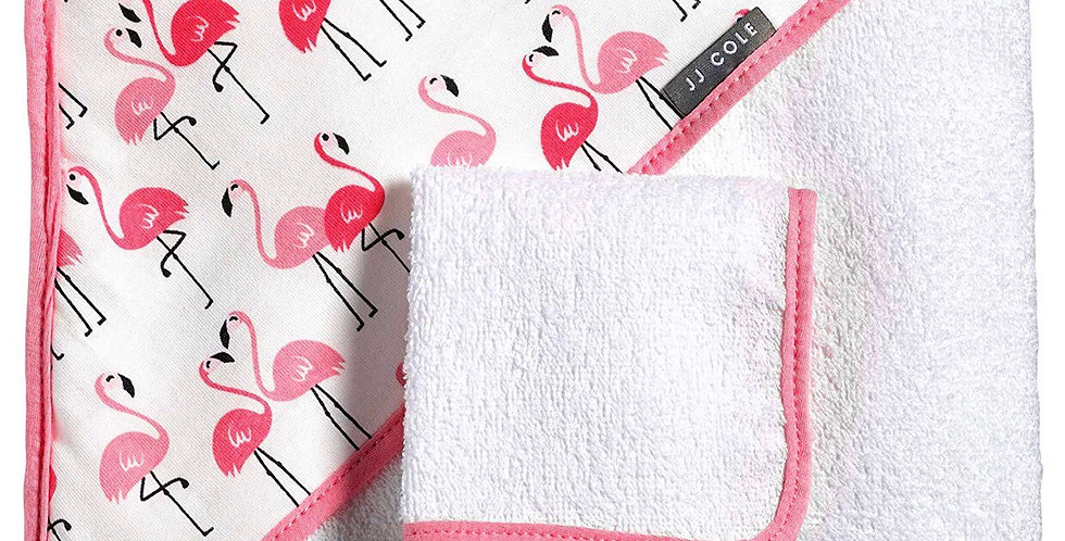 JJ Cole Hooded Towel with Washcloth