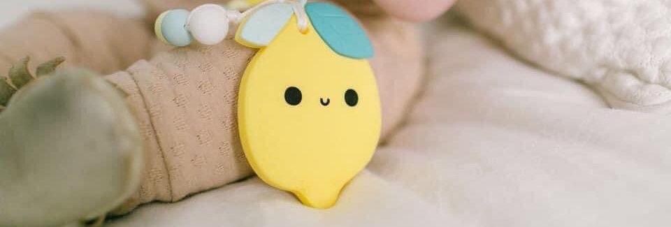 Lemon Teether and Paci clip
