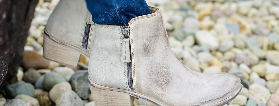 ROAN Liz Booties in Bone
