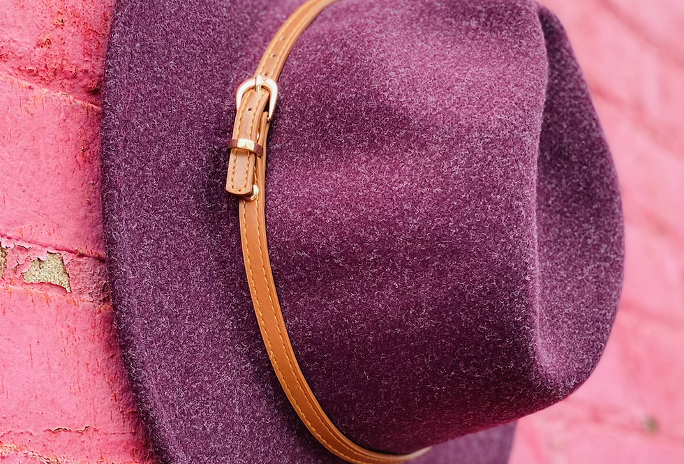 Hats Off To Ya in Plum