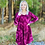 Thumbnail: Instant Obsession Maroon Tie Dye Dress