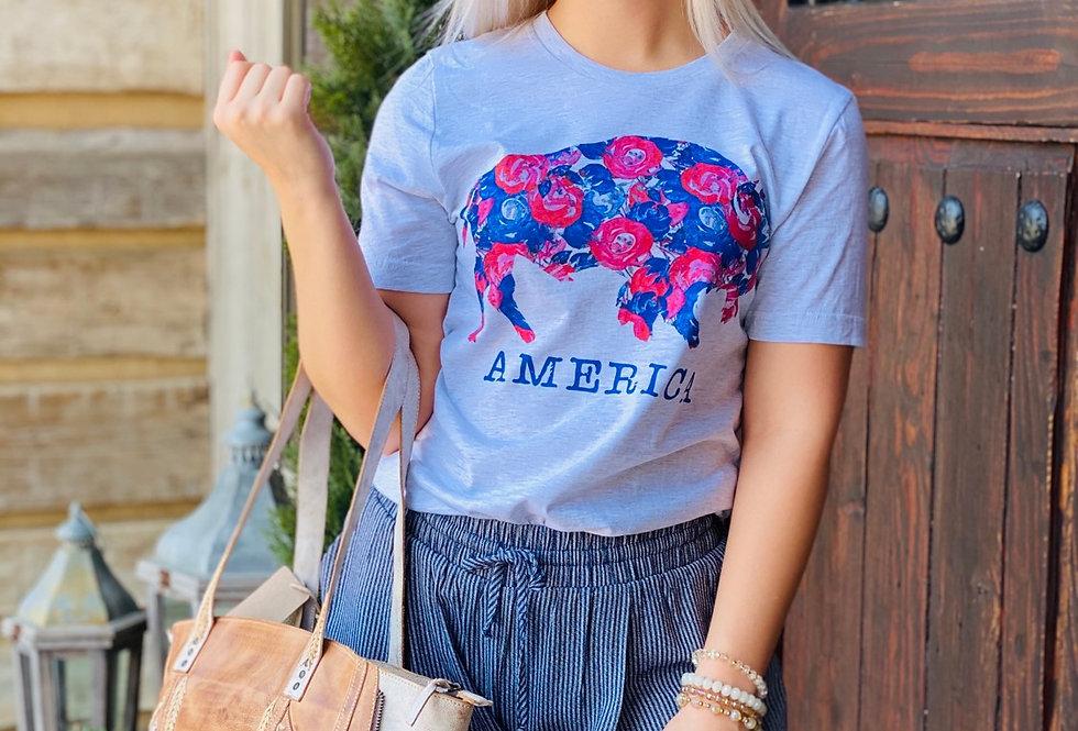 America Buffalo Tee