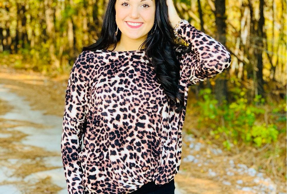 Love Me Knot Cheetah Top