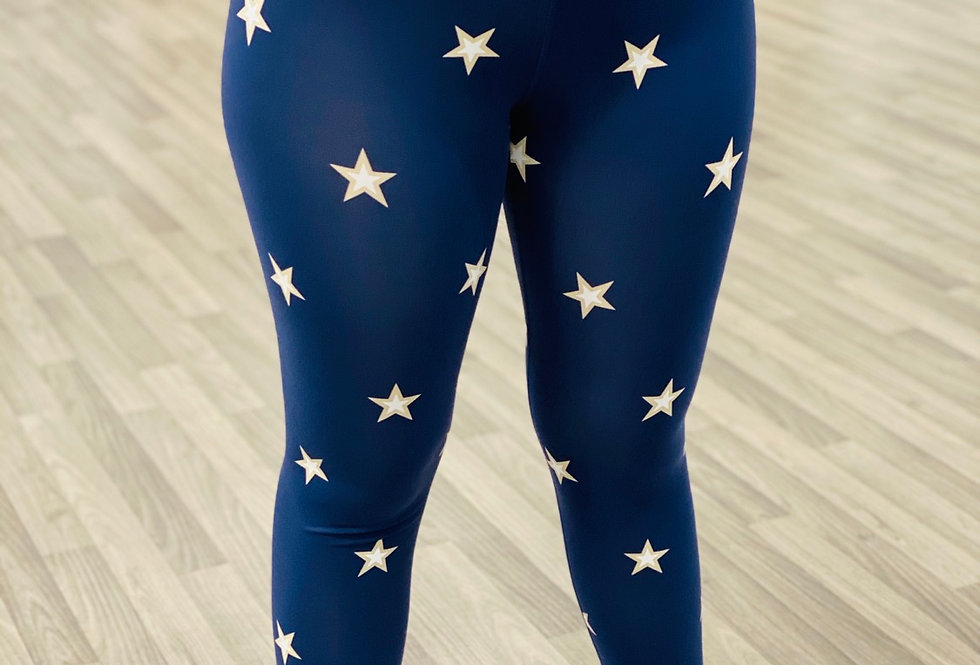 Navy Star Legging