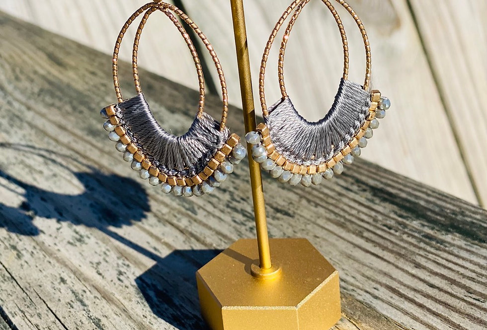 Flare For Life Earrings in Grey