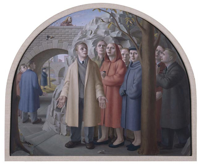 Birdwatchers in Central Park (1948) by George Tooker