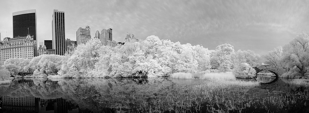 59th street Pond (Central Park) in B/W Infra-red in June 2014
