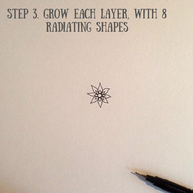 How to draw a mandala pt3