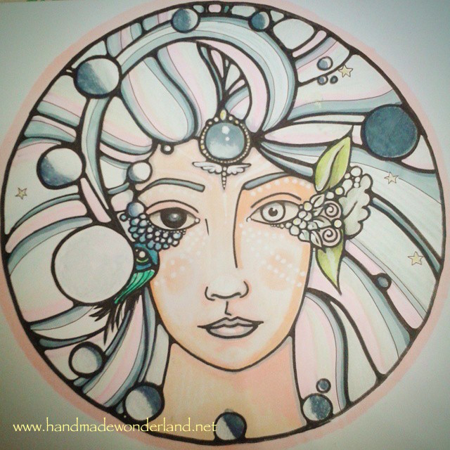 Moon Goddess Prints available at the HandmadeWonder Etsy Shop