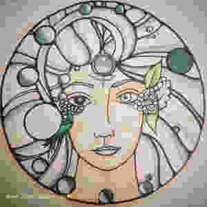 Moon Goddess Prints available at the HandmadeWonder Etsy Shop