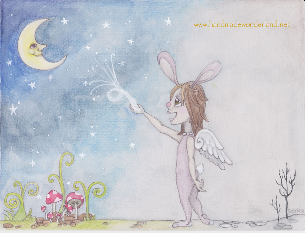 She Decided To Believe In Herself, 2014, Watercolour and Pencil. Faerie Sarah Art.
