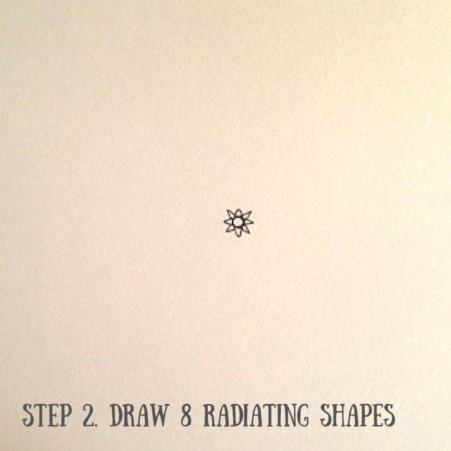 How to draw a mandala part2