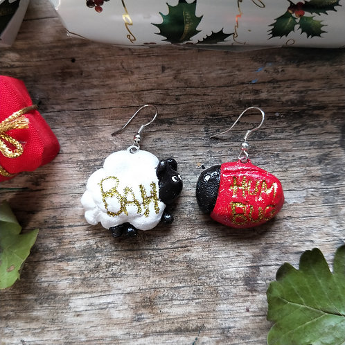 Bah humbug earrings