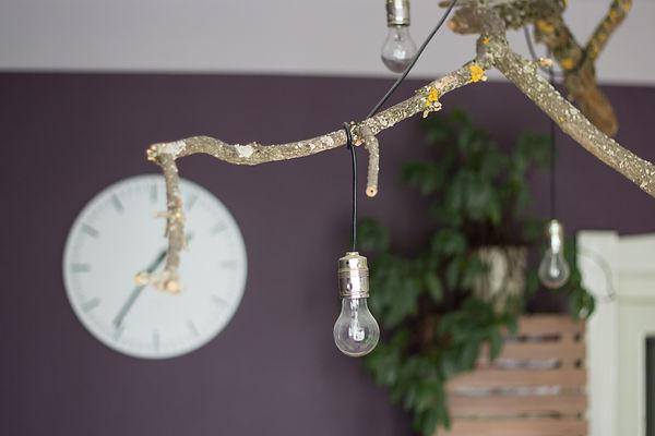 RabunaDesign, lampa z větve,