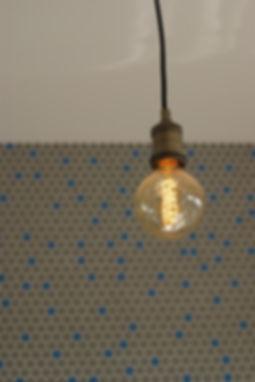 industial light interior design czech prague penny tile mosaic kitchen