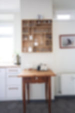 brass white kitchen wood interior design czech prague
