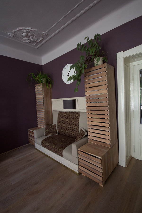 RabunaDesign, secesní pohovka, nábytek z teaku