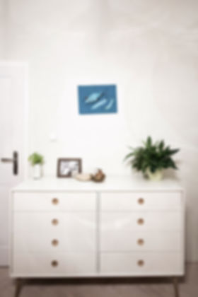 hygge interior design czech prague dresser white indoor plants vignette bedroom
