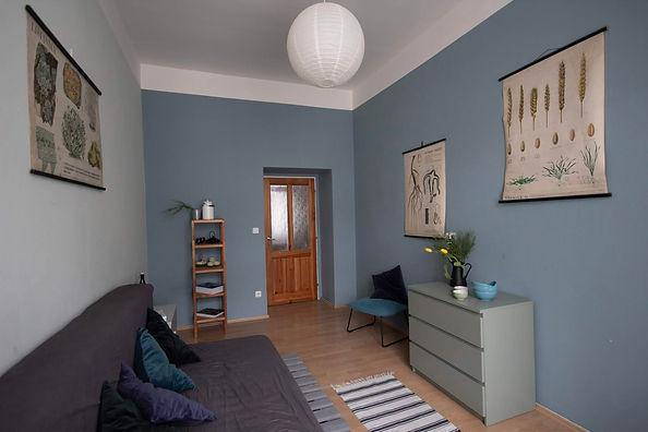 návrhy interiérů rabunadesign dsign obývací pokoj dekrace bydlení byt vintage plakát