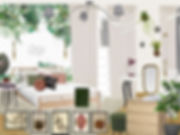 návrhy interiéru dívčí holčičí dětský pokoj pokojík zelná bílá růžová