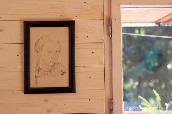 návrhy interiéru dekorace portrét obraz