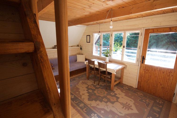 návrhy interiéru RabunaDesign dřevěná chata skandinávský styl