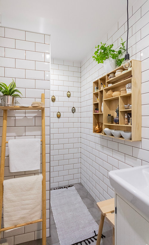 interior design czech prague white bathroom subway ties scandi nordic wooden accessories hygge styling