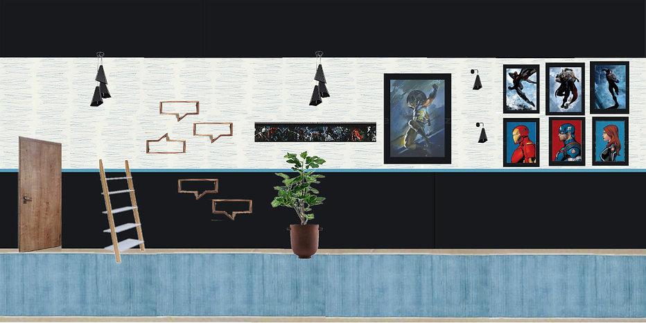 interior design Prague Czech moodboard interior marvel comics heroes