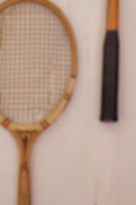 Prague interior design Czech RabunaDesign vintage tennis racket wall decoration Czech