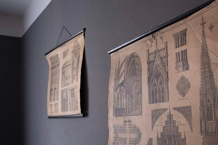 vintage návrhy interiréry plakát školní architektura rabunadesign