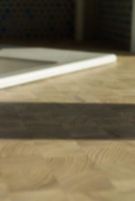 wooden worktop endgrain farmer sink interior design czech prague