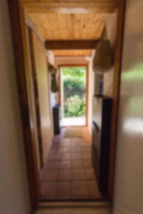 návrhy interiéru chodba cihlová dlažba venkovský venkov rustikální