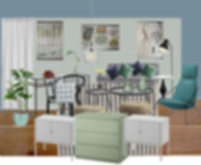 RabunaDesign návrhy interiéru moodboard