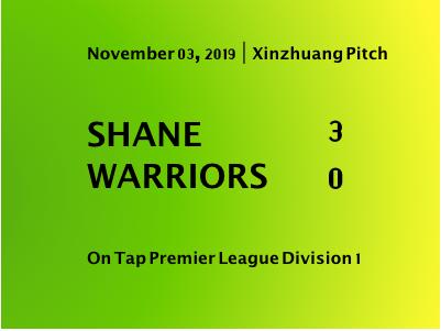 Shane defeat Warriors 3-0 to continue hot streak