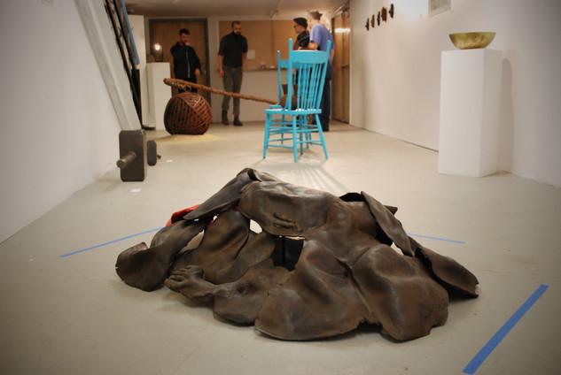 Collapse//Fragment. Cast iron, plaster, pigment. 2016