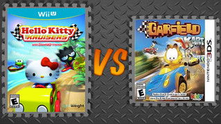 Hello Kitty Kruisers vs. Garfield Kart
