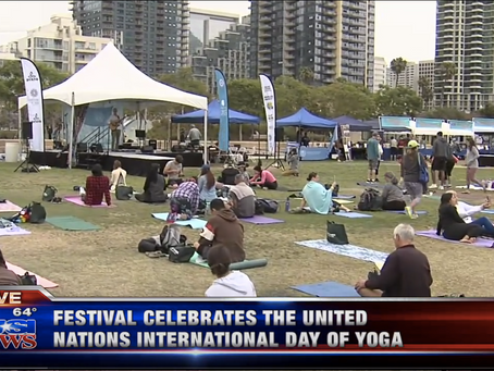 Shambhu Opens San Diego Festival Of Yoga and is featured on KUSI-TV