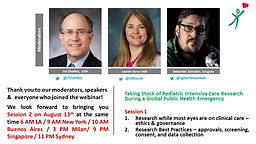 aking Stock of Pediatric Intensive Care Research During a Global Public Health Emergency - Session 2