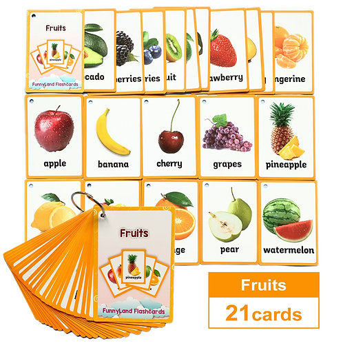 Children English Learning Word Cards - Montessori Educational Toys