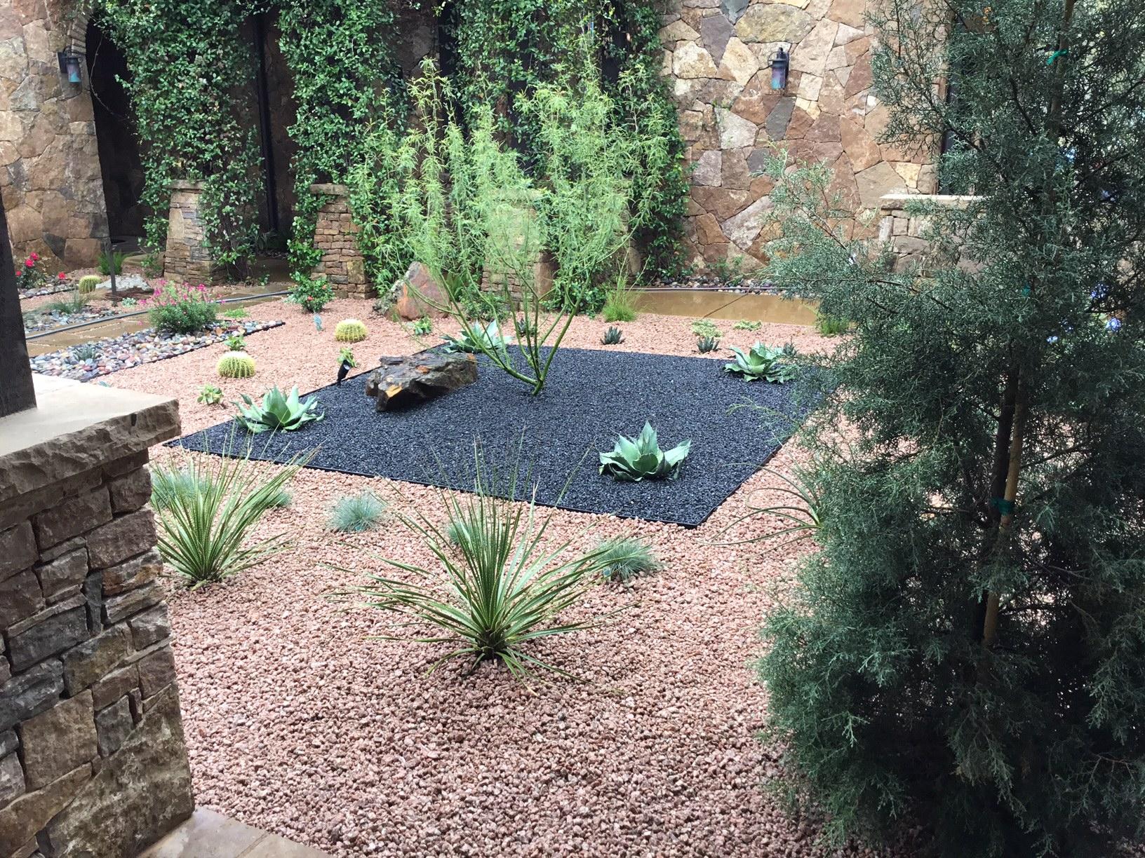 Modern, Drought Tolerant, Landscape  Glass Garden by JXC Landscaping (13)