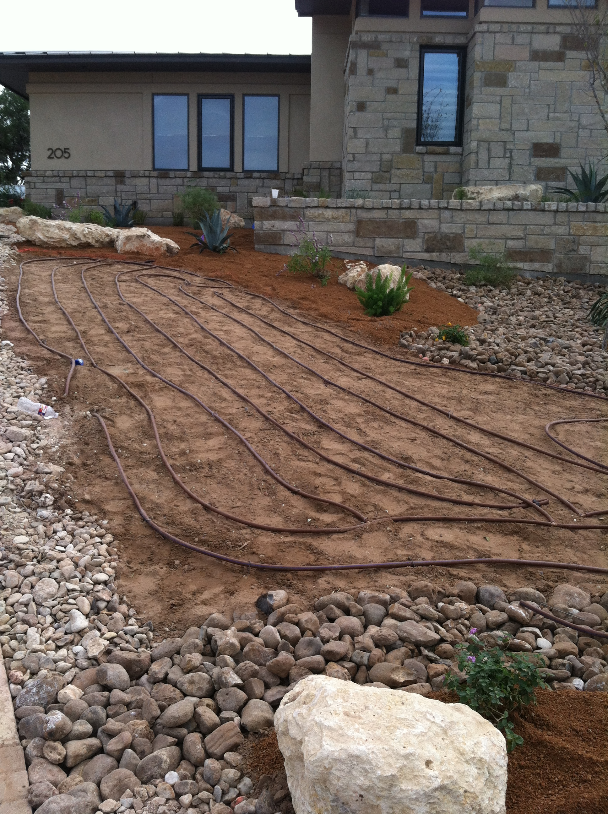 JXC Landscaping Rough Hollow  Drip Irrigation Install 10.26.2014 (45)