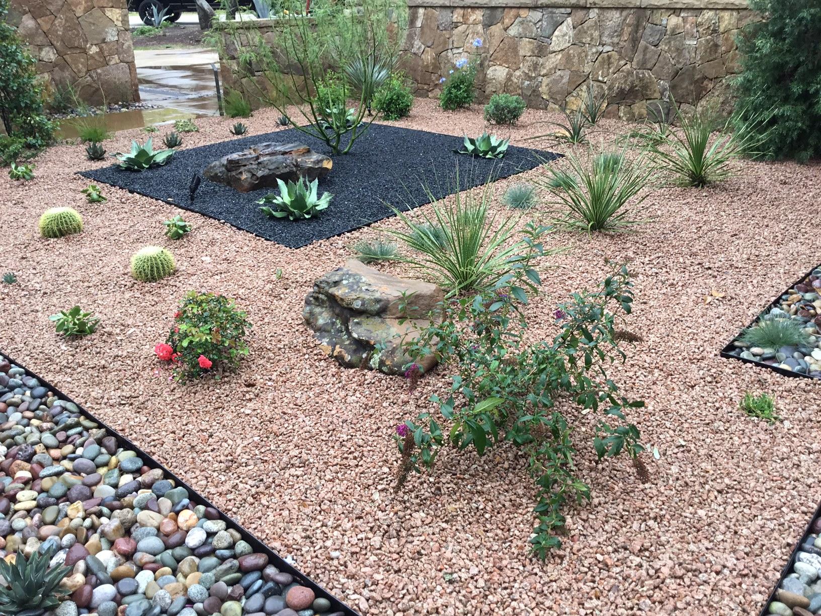 Modern, Drought Tolerant, Landscape  Glass Garden by JXC Landscaping (17)
