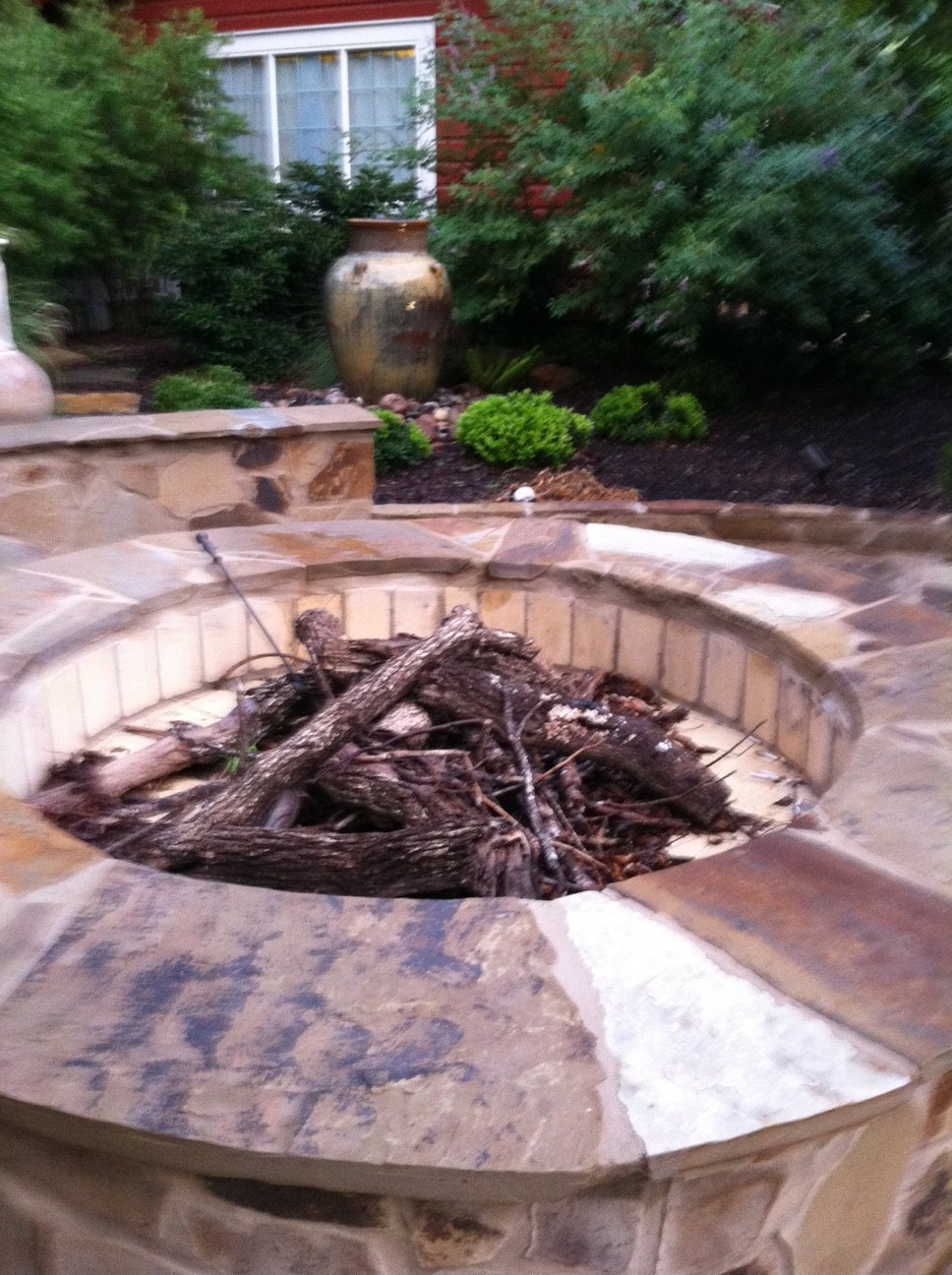 Fire pit stone work