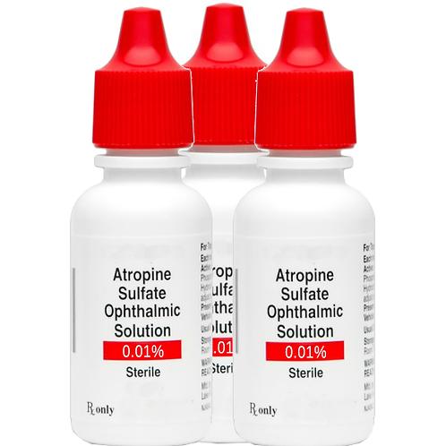 3 ea. Atropine 0.01% Ophthalmic Solution - 4ml