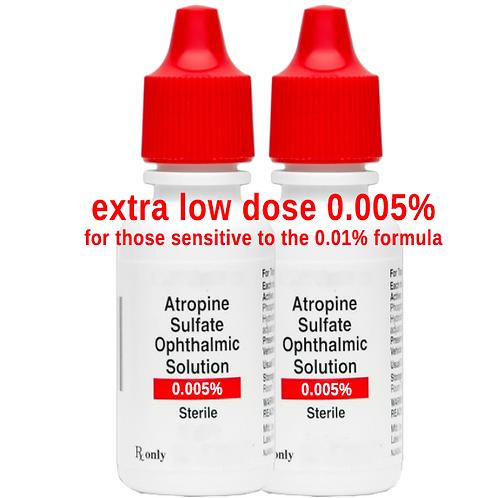 2 ea. Atropine 0.005% Ophthalmic Solution - 4ml